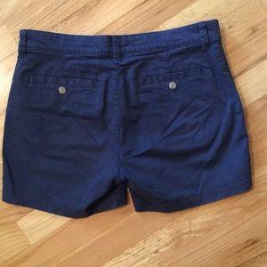 GAP Shorts - GAP Girlfriend Navy Blue Khaki Shorts Womens Size2